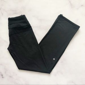 Lululemon | Black Wide Leg Drawstring Yoga Pants